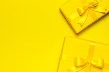 Two Bright Yellow Gift Present...