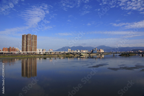 Fototapety, obrazy: Scenic shot of Dahan River Tamsui District City