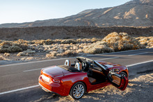 Convertible Sports Car On The ...