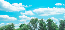 Clouds In The Blue Sky Over Th...