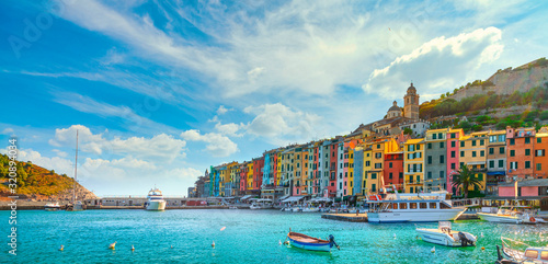 Portovenere village on the sea. Cinque terre, Ligury Italy Canvas