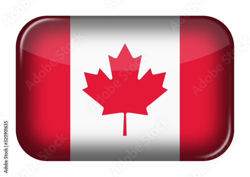 Canada web icon rectangle button with clipping path