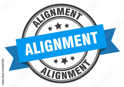 alignment label. alignmentround band sign. alignment stamp Wallpaper Mural