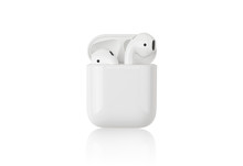 Wireless Headphones On A White...