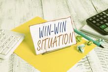Writing Note Showing Win Win S...