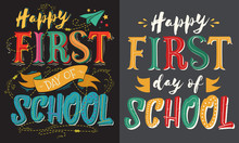 First Day At School Poster. Le...