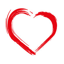 Heart . Grunge Stamps, Heart B...
