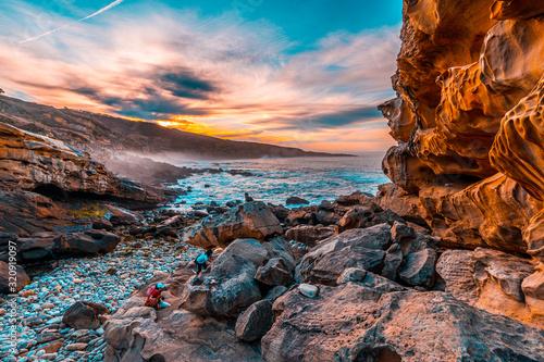 Photo San Sebastián, Guipúzcoa / Spain »; February 2, 2020: Geoforms of the beautiful