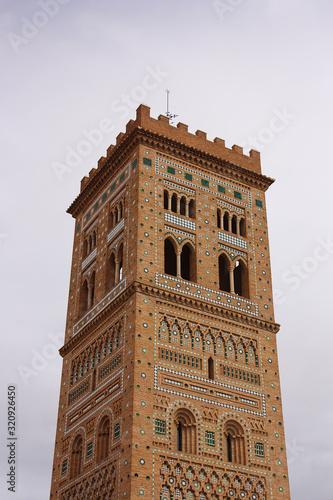 Torre de San Martín de Teruel Aragonese Mudejar style building in Spain, erected Canvas Print