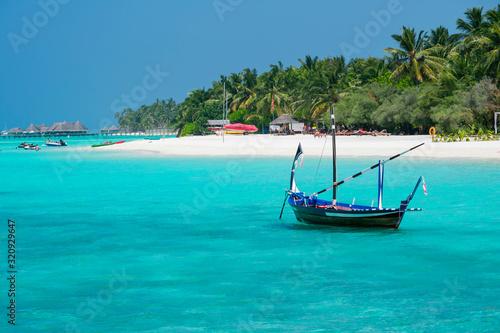 Maldive, north Male atoll - December 28 2019 - The magnificent nature in the Mal Canvas Print