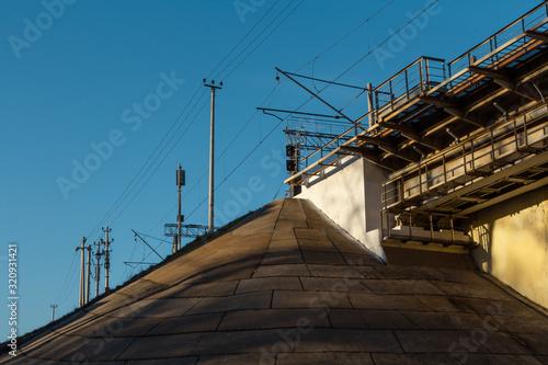 Photo Slope protection for abutment of bridge
