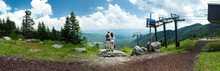 Panoramic Atop Mount Mansfield...