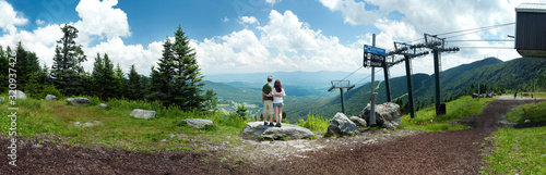 Photo Panoramic atop Mount Mansfield, Vermont