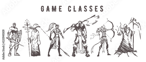 Sketch of game classes of multiplayer games Canvas-taulu