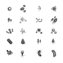 Virus Vector Illustration Icon
