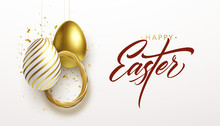 Happy Easter Lettering Backgro...