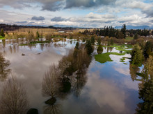 Aerial Of Extreme Flooding On ...