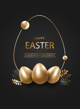 Happy Easter, Gold Easter Eggs...