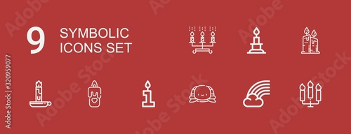 Fotomural Editable 9 symbolic icons for web and mobile