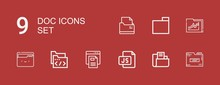 Editable 9 Doc Icons For Web A...