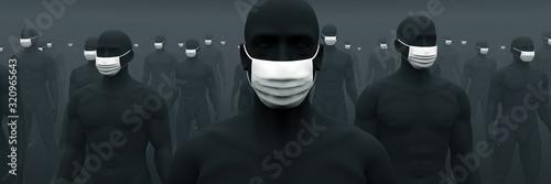 Fotografia, Obraz マスクが欠かせない人々 1