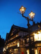 The Night View Of Ginzan Onsen...