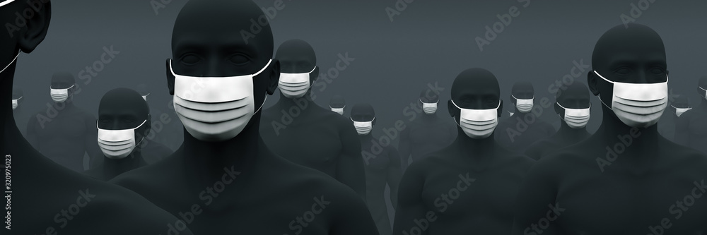 Fototapeta マスクが欠かせない人々 2