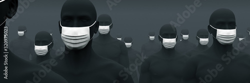 Cuadros en Lienzo マスクが欠かせない人々 2