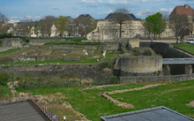 Remains Of An Old Medieval Citadel At Caen Fortress, France