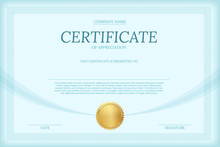 Certificate Of Appreciation Co...