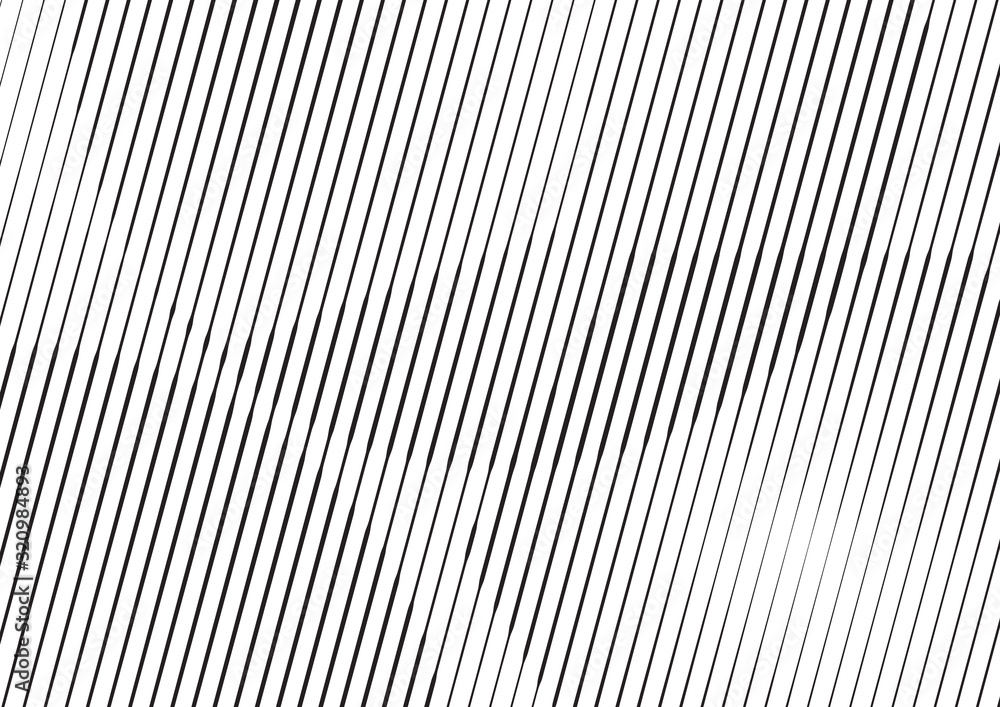 Fototapeta Abstract background with lines of variable thickness. Halftone effect line pattern.  Grunge modern pop art texture for poster, banner, sites, business cards, cover, postcard, design, labels, stickers