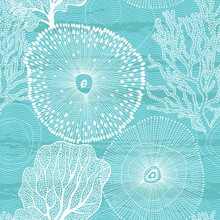 Sea. Abstract Seamless Pattern...