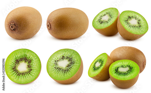 kiwi isolated on white background, full depth of field, clipping path - 320985096