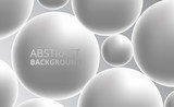 3D white silver sphere ball. abstract background concept.
