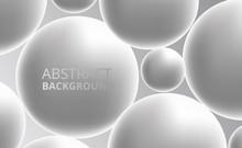 3D White Silver Sphere Ball. A...