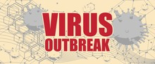 Abstract Virus Image On Backdr...