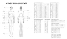 Womens Measurements Fashion Te...