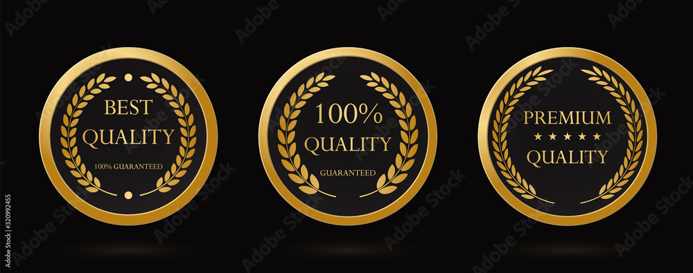 Fototapeta Gold laurel wreath or laureate wreath as award