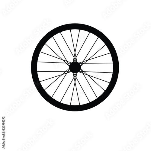 Cuadros en Lienzo Bike wheel icon vector