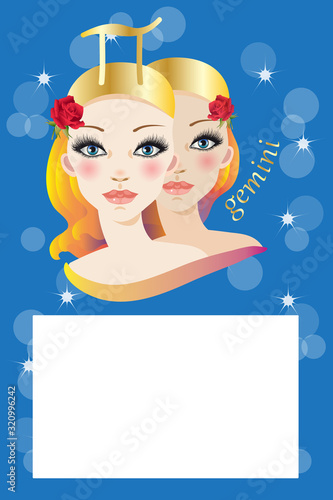 Photo Illustration with zodiac sign and white space to write a text