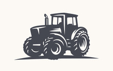 Modern Tractor Illustration On...