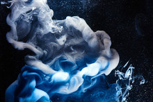 Abstract Blue Outer Space Scie...