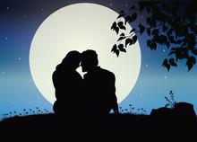Love Under The Moonlight, Vector Illustrations