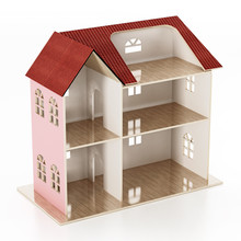 Classic Wooden Dollhouse Isola...