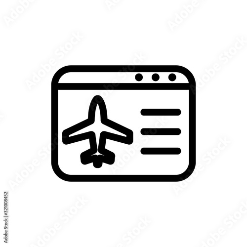 Plane icon vector airfares Wallpaper Mural
