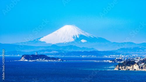 Obraz na plátně 富士山と湘南海岸