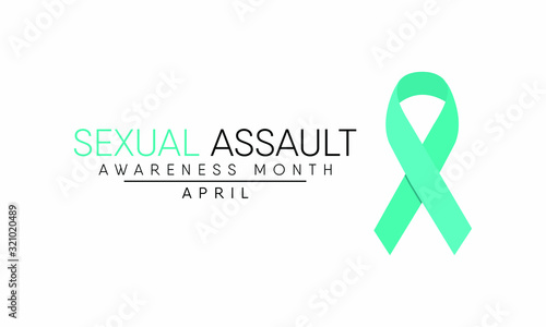 Vector illustration on the theme of Sexual Assault Awareness and prevention month of April Wallpaper Mural