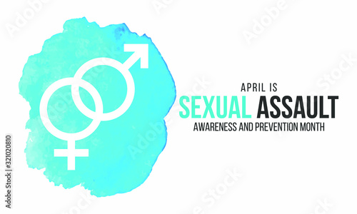Vector illustration on the theme of Sexual Assault Awareness and prevention month of April Canvas Print