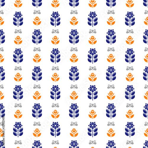 Photo Scandinavian seamless pattern