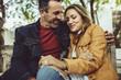 Leinwanddruck Bild - Beautiful couple on a date